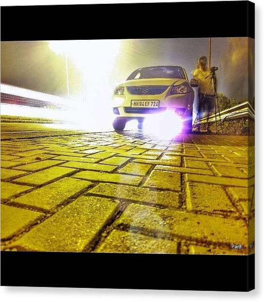 Suzuki Canvas Print - #longexposure #lighttrail #night by Parth Patel