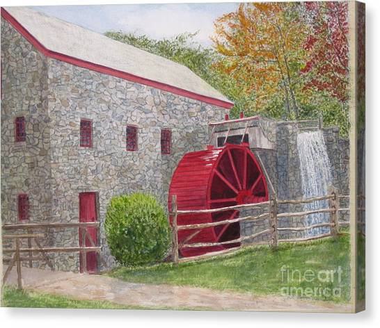Longfellow's Gristmill Canvas Print