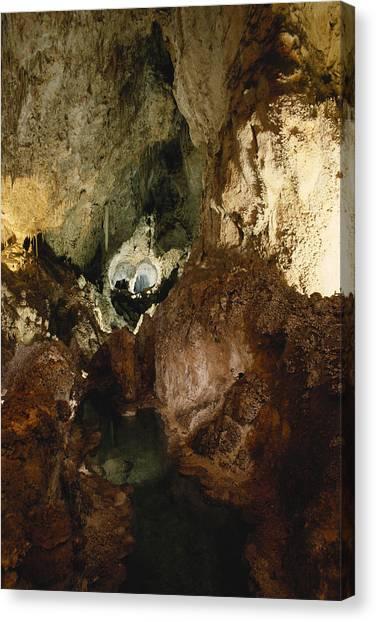 Limestone Caves Canvas Print - Longfellows Lake, Carlsbad Caverns by Bruce Roberts
