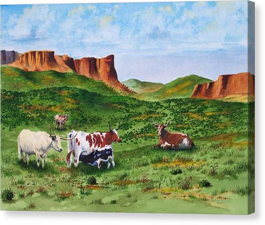 Longhorn Country Canvas Print