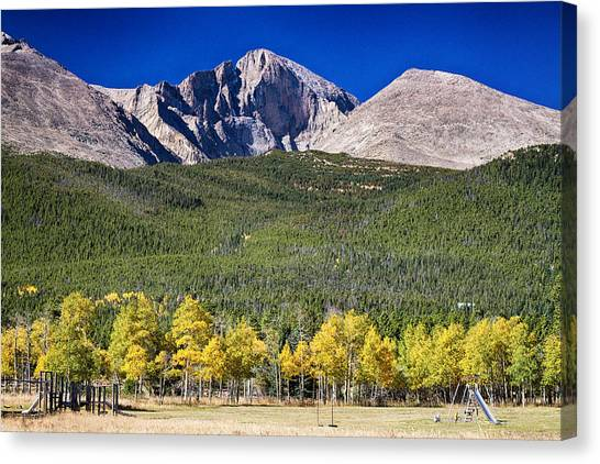 Longs Peak A Colorado Playground Canvas Print