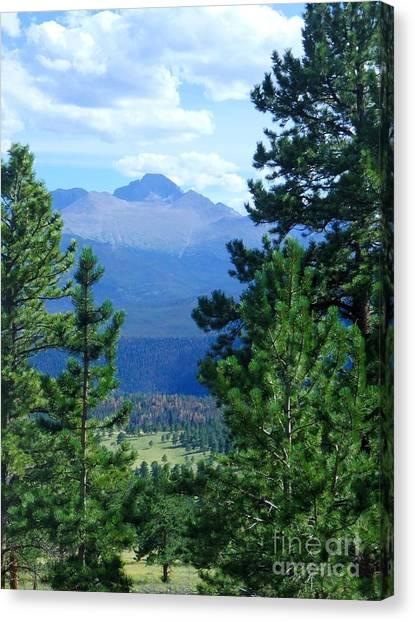 Longs Peak A Fourteener Canvas Print by Stephen Schaps