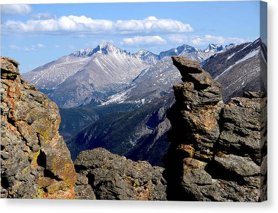 Long's Peak From The Rock Cut Canvas Print