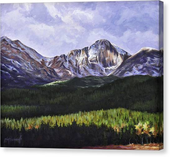 Longs Peak Glowing Canvas Print