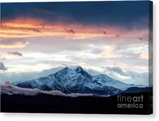 Longs Peak In Winter Canvas Print