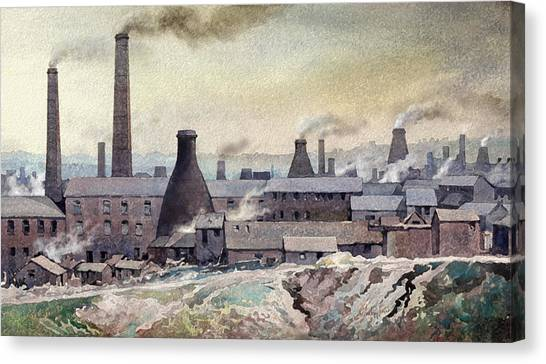Longton Skyline Canvas Print by Anthony Forster