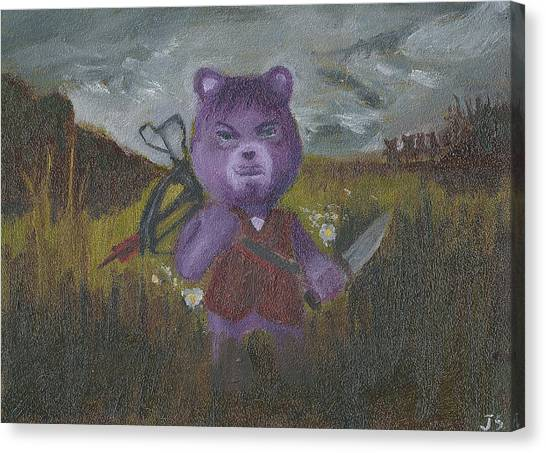 Care Bears Canvas Print - Look At The Flowers Daryl by Jessmyne Stephenson