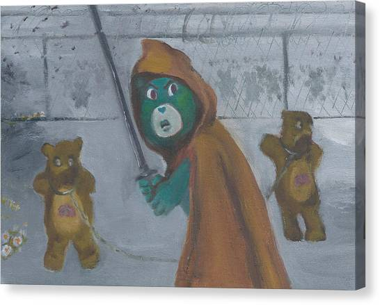 Care Bears Canvas Print - Look At The Flowers Michonne by Jessmyne Stephenson