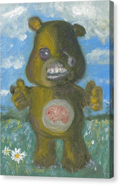 Care Bears Canvas Print - Look At The Flowers Walker by Jessmyne Stephenson