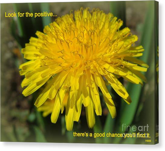 Look For The Positive Canvas Print