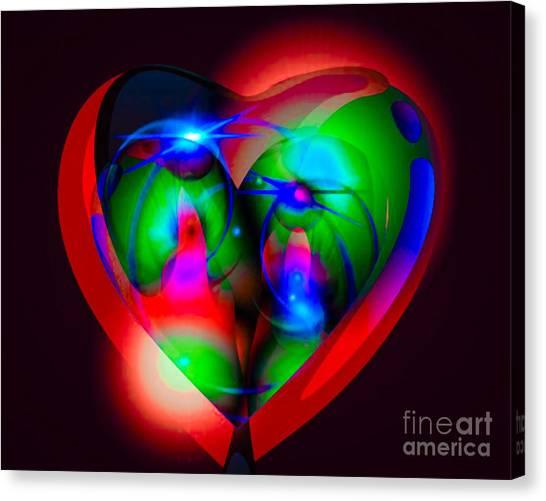 Look Inside My Heart Canvas Print