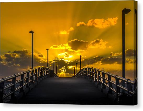 Thunder Bay Canvas Print - Look Into The Rays by Marvin Spates
