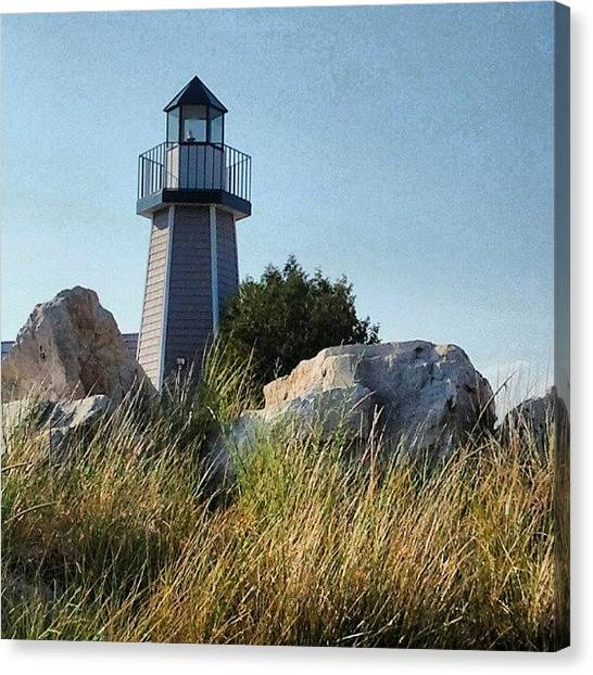 Lake Michigan Canvas Print - Look Out by Erin Britton
