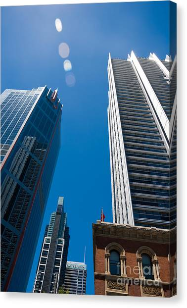 Look Up To The Sky - Skyscrapers In Sydney Australia Canvas Print