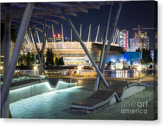Vancouver Whitecaps Fc Canvas Print - Looking At Bc Place - By Sabine Edrissi by Sabine Edrissi
