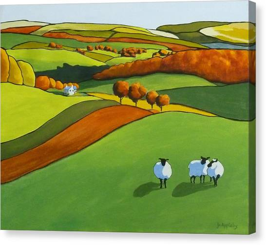 Looking At Ewe Canvas Print