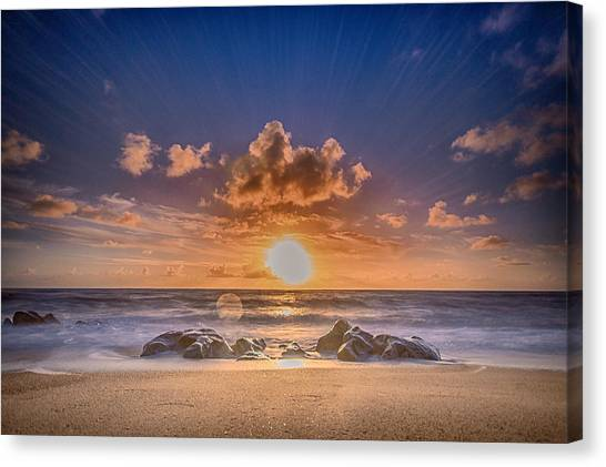Looking At The Sun Canvas Print