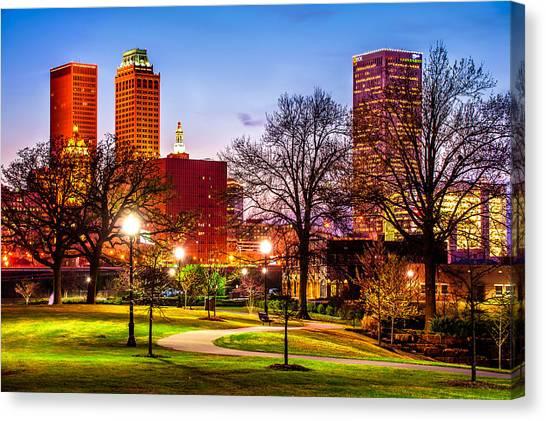 Centennial Canvas Print - Looking At Tulsa by Gregory Ballos
