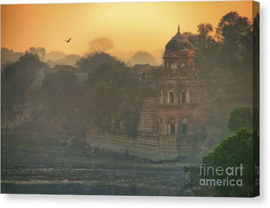 Looking Back From The Taj Mahal Canvas Print