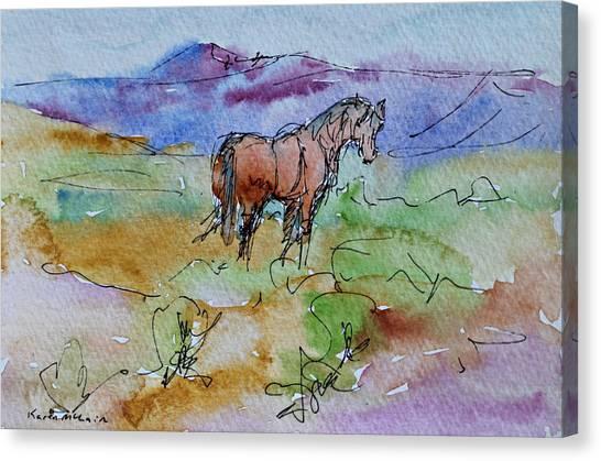 Looking Back Canvas Print by Karen McLain