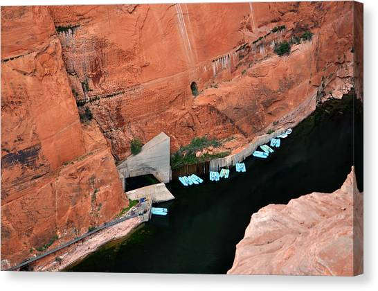 Looking Down At Glen Canyon  Canvas Print