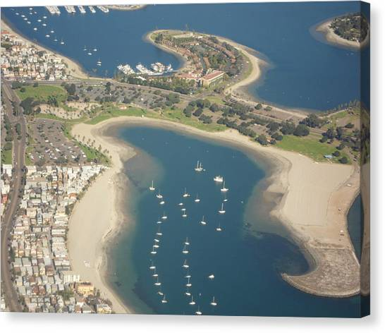Looking Down On San Diego Canvas Print