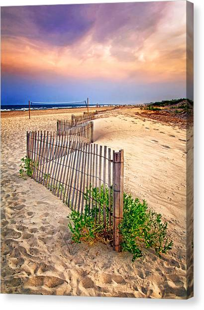 Looking Down The Beach Canvas Print