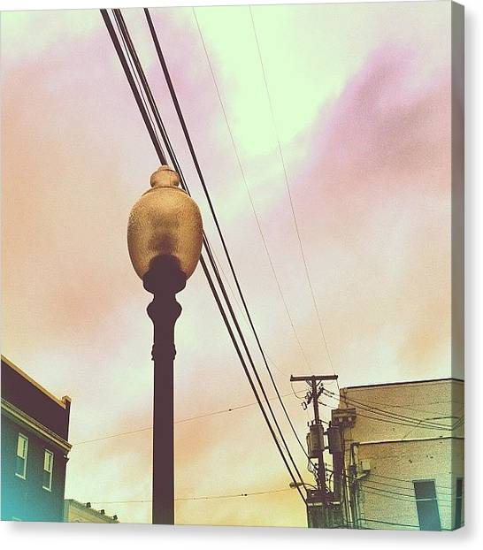 Jerseys Canvas Print - Looking For A Light #lamp #lamppost by Red Jersey