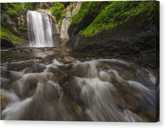 Pisgah National Forest Canvas Print - Looking Glass Falls by Joseph Rossbach
