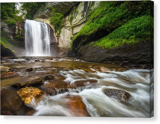 Appalachian Mountains Canvas Print - Looking Glass Falls - North Carolina Blue Ridge Waterfalls Wnc by Dave Allen