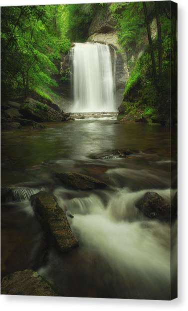 Looking Glass Waterfall In Colour Canvas Print