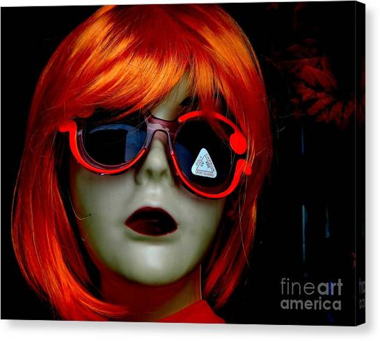 Canvas Print featuring the photograph Looking In The Window by Laura  Wong-Rose