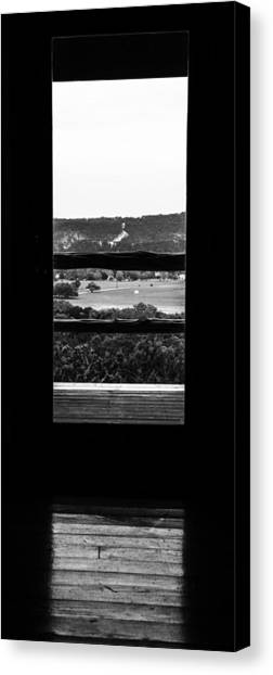 Looking Out A Country Door. Canvas Print