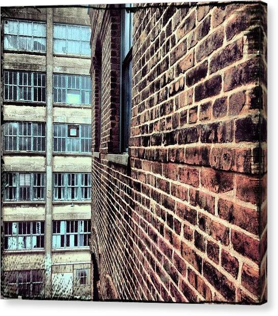 Warehouses Canvas Print - Looking Out. #instagram #instagood by Visions Photography by LisaMarie
