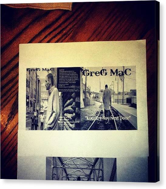 Mac Canvas Print - Looking Over The New Album,kountry by Greg Mac