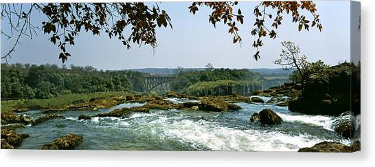 Victoria Falls Canvas Print - Looking Over The Top Of The Victoria by Panoramic Images