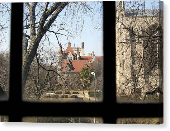 Looking Past The Window  Canvas Print by Eugene Bergeron