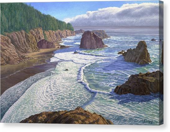 Oregon Canvas Print - Looking South- Oregon Coast by Paul Krapf