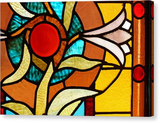 Looking Through Stain Glass Canvas Print by Thomas Fouch