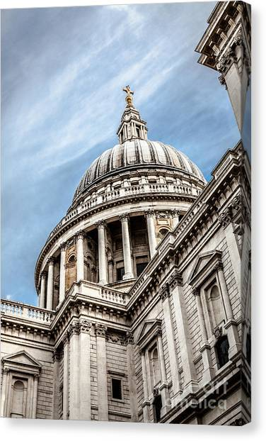 Looking Up At The Dome Of Saint Pauls Cathedral In London Canvas Print