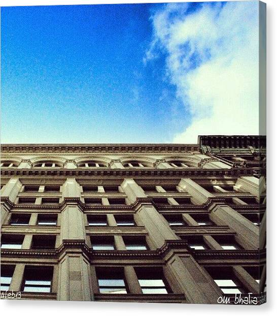 Om Canvas Print - 'looking Up' Is Always Refreshingly by Om Bhatia