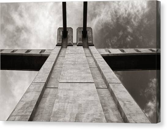 Vertigo Canvas Print - Looking Up On The Hennepin Avenue Bridge by Jim Hughes