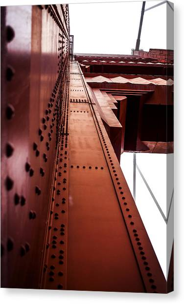 Looking Up The Golden Gate Bridge Canvas Print by SFPhotoStore