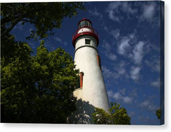 Looking Up To Marblehead Light Canvas Print