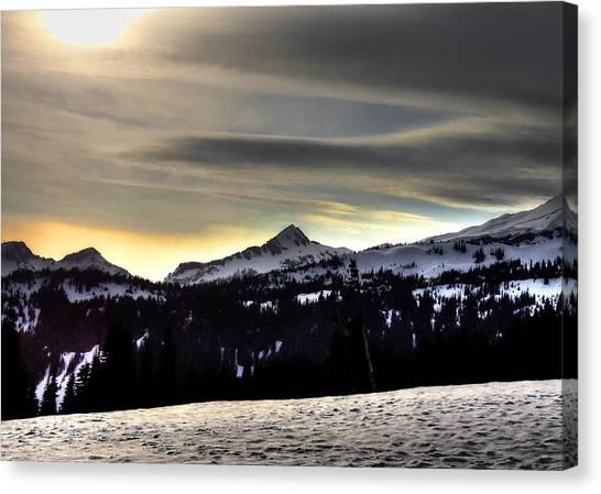 Looking West At Pyramid Peak Canvas Print