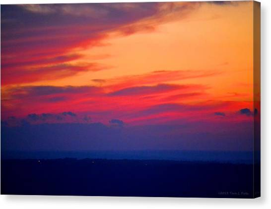 Lookout Mountain Sunset Canvas Print