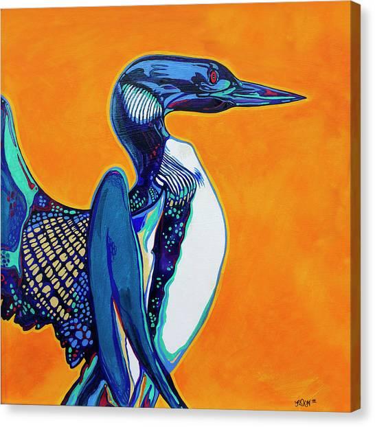 Loons Canvas Print - Loon by Derrick Higgins