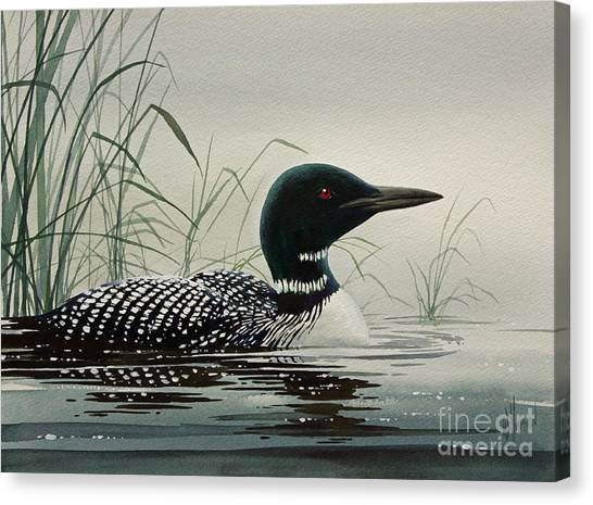 Loons Canvas Print - Loon Near The Shore by James Williamson