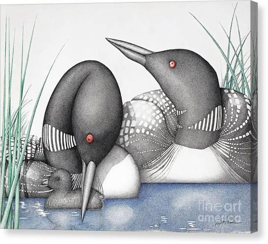 Loons Canvas Print - Loons by Wayne Hardee