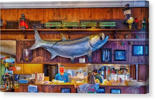 Loose Caboose Restaurant - Boca Grande Canvas Print